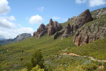 14 panorama sur la piste de Riglos